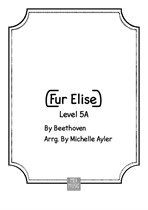 Early Intermediate Fur Elise Piano Music Sheet
